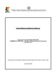 RELATÓRIO DA CONSULTA PÚBLICA - CCDR-LVT