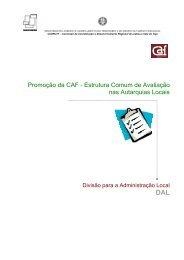 Estrutura Comum de Avaliação nas Autarquias Locais - CCDR-LVT