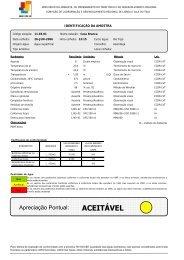 IDENTIFICAÇÃO DA AMOSTRA - CCDR-LVT