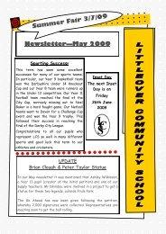 May 2009 - Littleover Community School