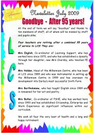 Newsletter July 2009 - Littleover Community School