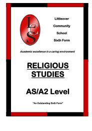 Philosophy & Ethics (Religious Studies) - Littleover Community School