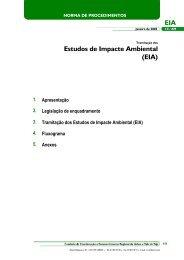 EIA Estudos de Impacte Ambiental (EIA) - CCDR-LVT