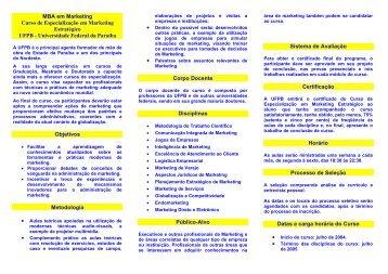 MBA em Marketing Curso de Especialização em Marketing ...
