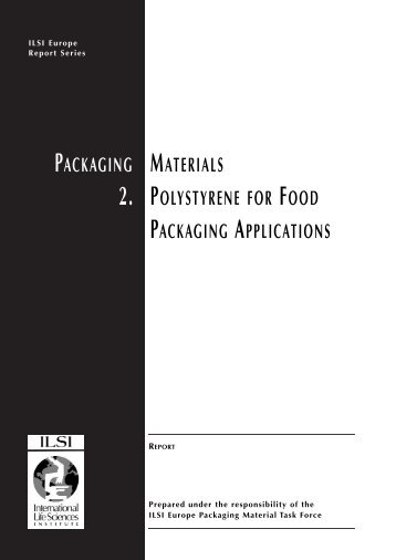 packaging materials 2. polystyrene for food packaging applications