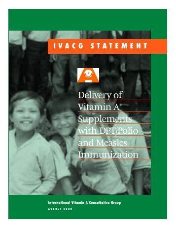 Delivery of Vitamin A Supplements with DPT/Polio - International ...