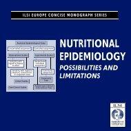 ILSI Epidemiology for pdf - International Life Sciences Institute