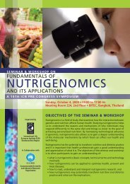 Seminar and Workshop Brochure - International Life Sciences Institute