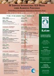 iv simpósio internacional ilsi brasil sobre alimentos funcionais