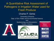 A Quantitative Risk Assessment of Pathogens in Irrigation Water ...
