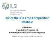 Use of the ILSI Crop Composition Database - International Life ...