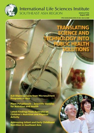 ILSI Southeast Asia Region Newsletter - August 2009 - International ...
