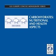 Carbohydrates: Nutritional and Health Aspects - ILSI Argentina