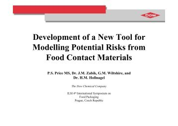 Development of a New Tool for Modelling Potential Risks from Food ...