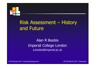 Risk Assessment – History and Future