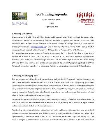 e-Planning Agenda - LabTec-CS