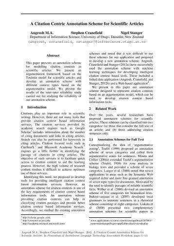 Citation and annotation