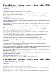 Cannabis now ten times stronger than in the 1980s ... - Grasfrei
