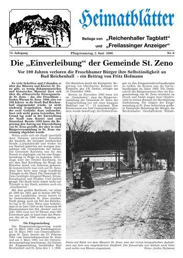 """Die """"Einverleibung"""" der Gemeinde St. Zeno - 850 Jahre Stadt Bad ..."""