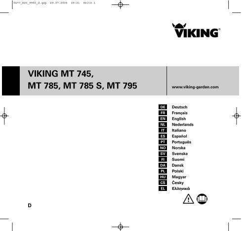 VIKING MT 745, MT 785, MT 785 S, MT 795