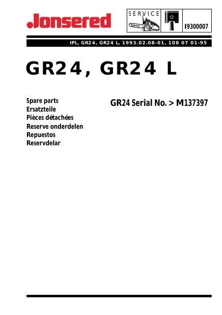 sale retailer cb686 7511e IPL, GR24, GR24 L, 1993-02, Brush Cutter - Jonsered