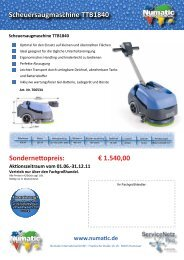 Scheuersaugmaschine TTB1840 - Numatic