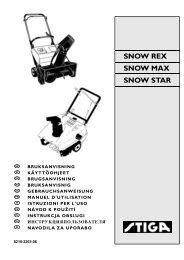 SNOW REX SNOW MAX SNOW STAR - Stiga!