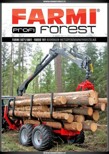 FARMI 5871/5881 - VARIO 101 KUORMAIN ... - Farmi Forest