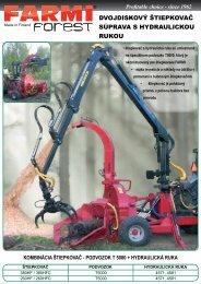 dvojdiskový štiepkovač súprava s hydraulickou rukou - Farmi Forest