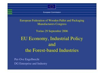 EU Economy, Industrial Policy and the Forest-based Industries