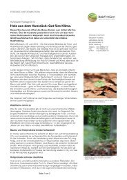 Holz aus dem Hunsrück: Gut fürs Klima. - HolzProKlima
