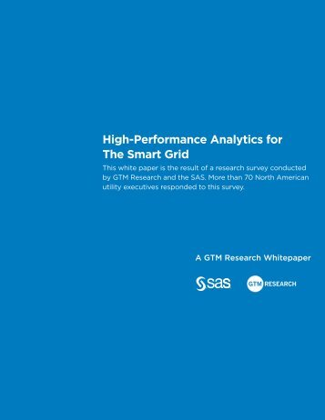 High-Performance Analytics for The Smart Grid