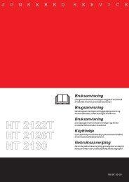 OM, HT2122 T, HT2126 T, HT2130, 2003-09 - Jonsered
