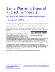 Early Warning Signs of Projects in Trouble