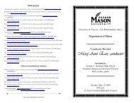 Mary Ann East, conductor - George Mason University School of Music