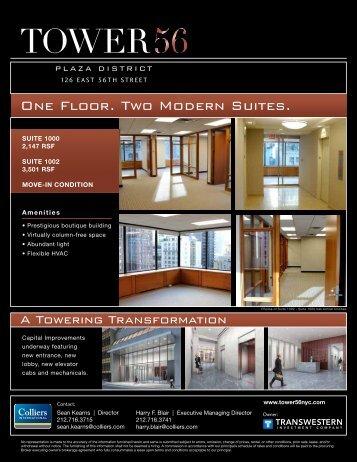 One Floor. Two Modern Suites.