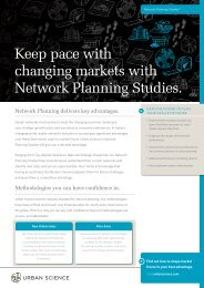 Keep pace with changing markets with Network ... - Urban Science