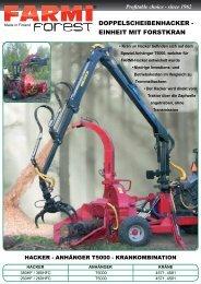 doppelscheibenhacker - einheit mit forstkran - Farmi Forest