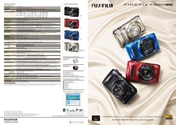 SPECIFICATIONS - Fujifilm