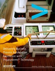 Delivering Business Process Automation ... - Pegasystems Inc.