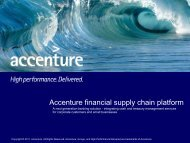 Accenture financial supply chain platform provides the business ...
