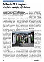 Az Unidrive SP új irányt szab a hajtástechnológia fejlődésének