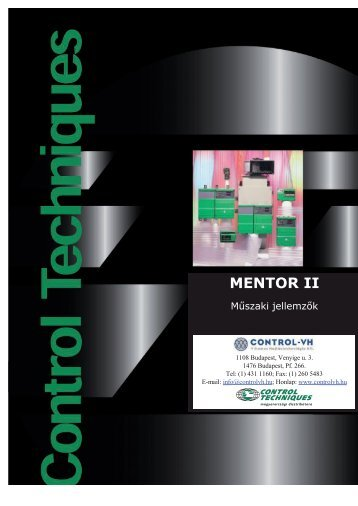 MENTOR II - CONTROL-VH Villamos Hajtástechnológia Kft.