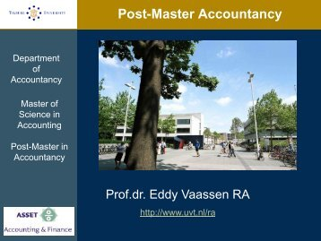 Why Accountancy? - Tilburg University, The Netherlands