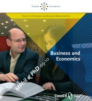 Business, Economics - Tilburg University, The Netherlands