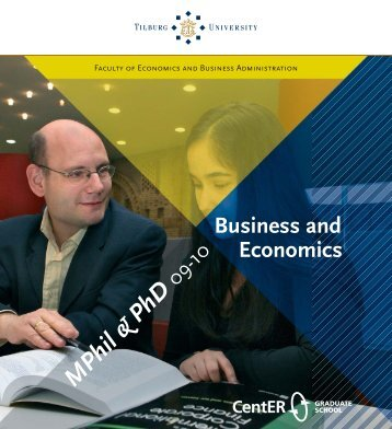 Business, Economics - Tilburg University, The Netherlands