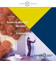 Research Masters • Business • Economics - Tilburg University, The ...