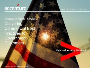 Delivering Commercial Best Practices to Government Customers
