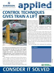 Control Techniques Gives Train a Lift - Emerson Industrial Automation