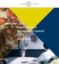 Masters • Accountancy en Management Control ... - Tilburg University